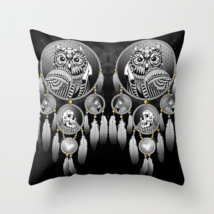 Bring the Nightmare Throw Pillow