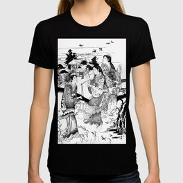 Vintage Oriental Woman Working T-shirt
