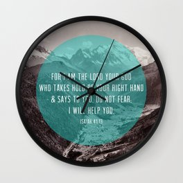 Isaiah 41:13 Wall Clock