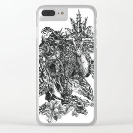 Inktober 2018: Thundergod II: This Time It's Personal Clear iPhone Case