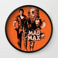 mad max Wall Clocks featuring Mad Max by leea1968