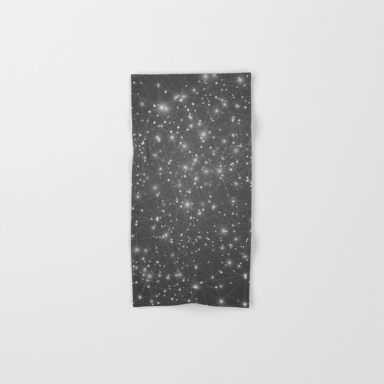 Logic Will Get You From Point A to Point B (Geometric Web/Constellations) Hand & Bath Towel