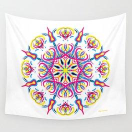 """CMYK in bloom"" Wall Tapestry"
