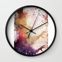 eagle Wall Clocks featuring Eagle by jbjart