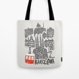 Barcelona Cityscape Tote Bag