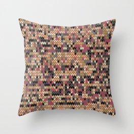 Heathered knit textile 2 Throw Pillow