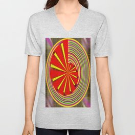 spinning abstraction Unisex V-Neck