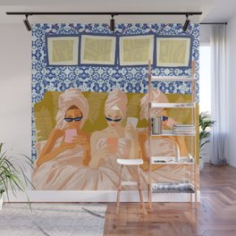 Ladies-Only Club #illustration #painting Wall Mural