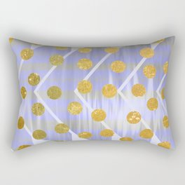 NL 9 13 Chevron Polka Dots Rectangular Pillow