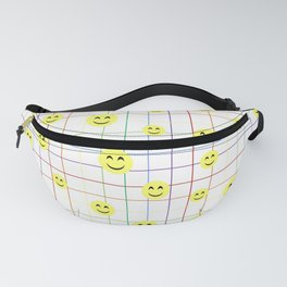 Colorful Smiley Emoji 3 - white Fanny Pack