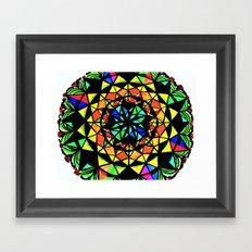 Day and Night Mandala Framed Art Print
