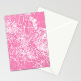 New Delhi map pink Stationery Cards