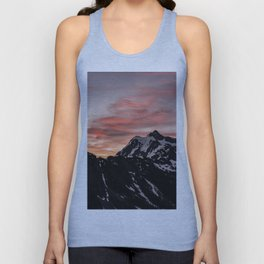 Pink Sky - Cascade Mountains - Nature Photography Unisex Tank Top