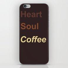 Heart Soul Coffee iPhone & iPod Skin