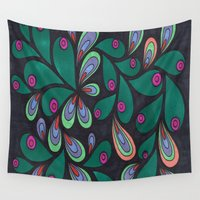 candy Wall Tapestries featuring Candy by Sarah J Bierman