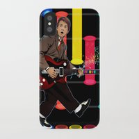 marty mcfly iPhone & iPod Cases featuring Marty McFly plays Guitar Hero by Akyanyme