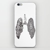 lungs iPhone & iPod Skins featuring Lungs by Alexander.Leake