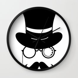 Hipster hat and Wall Clock