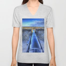 Edinburgh Castle Cannon Unisex V-Neck