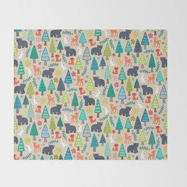 summer woodland Throw Blanket