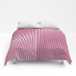 Pink Pleats Comforters