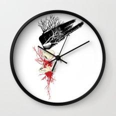 trash polka Wall Clock