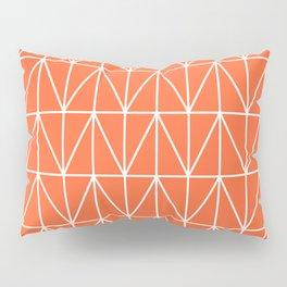 CHEVRON TRIANGLES - ORANGE Pillow Sham