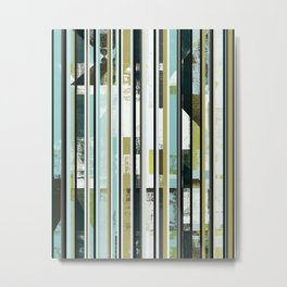 modern mid century, Graphic art, neutral colors, geometric art, circles, modern painting, abstract Metal Print
