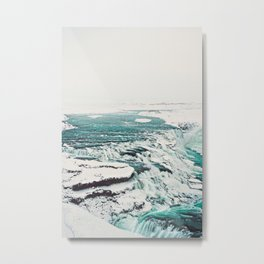 Gullfoss Waterfall Metal Print
