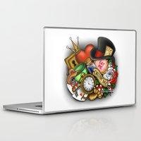 alice wonderland Laptop & iPad Skins featuring Wonderland  by Katie Simpson a.k.a. Redhead-K