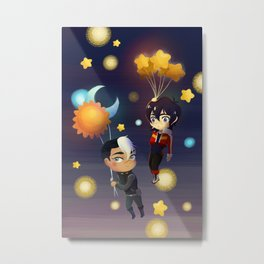 Sun and Moon and Stars Balloons Metal Print