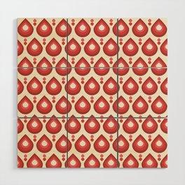 Drops Retro Pink Wood Wall Art
