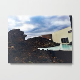 Lava Rocks at the Entrance to Iceland's Blue Lagoon (2) Metal Print