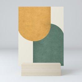 Halfmoon Colorblock 2 - Gold Green  Mini Art Print
