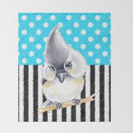 Titmouse Polka Blue Throw Blanket