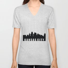Kansas City Skyline Unisex V-Neck