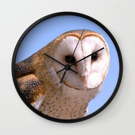 Pensive Owl In Mindful Repose Wall Clock