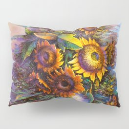 Oil painting a bouquet of flowers . Impressionist style 3 Pillow Sham