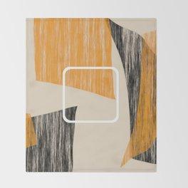 Abstract textured artwork II Throw Blanket
