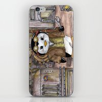 engineer iPhone & iPod Skins featuring Penguin Engineer by Tanya Davis Art