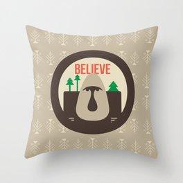 Believe Skoggs Troll Throw Pillow