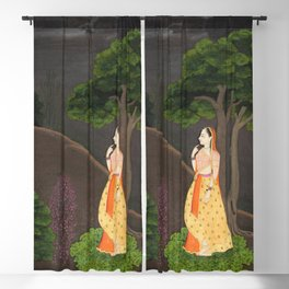 The Heroine Who Waits Anxiously for Her Absent Lover (Utka Nayaka) Blackout Curtain