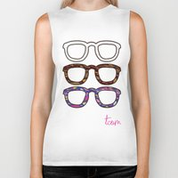 glasses Biker Tanks featuring Glasses by @thecultureofme