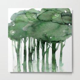 Tree Impressions No. 2B by Kathy Morton Stanion Metal Print