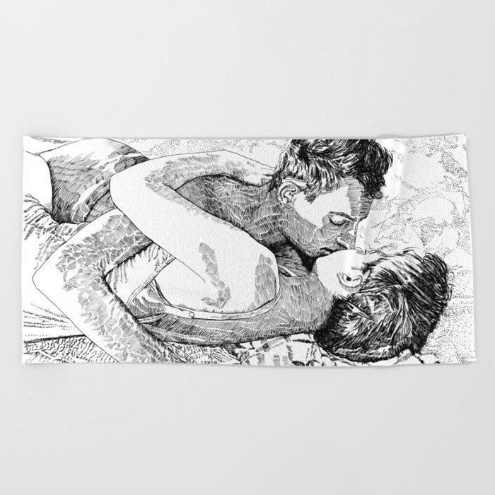 The kiss Beach Towel