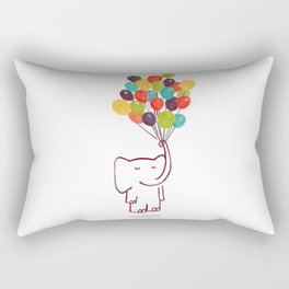 Flying Elephant Rectangular Pillow