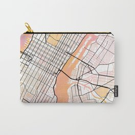New York Street Map Color Carry-All Pouch