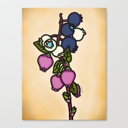 Blueberry Bloom Canvas Print