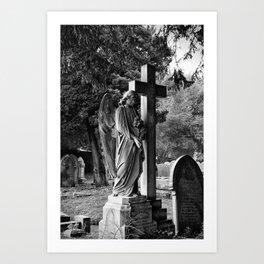 Churchyard angel Art Print