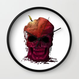 Skull Candle Wall Clock